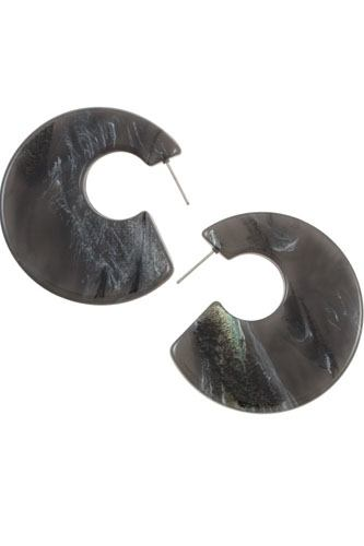 Semi circle acetate fashion earring-id.cc36891