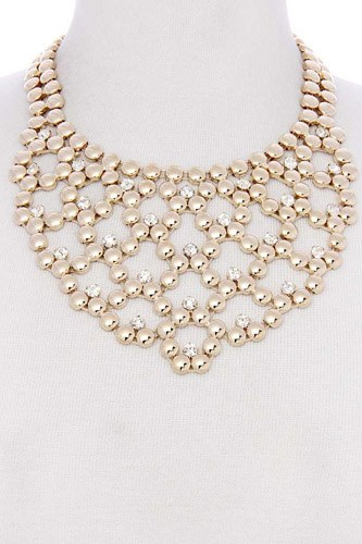 Metal ball short necklace-id.cc36950
