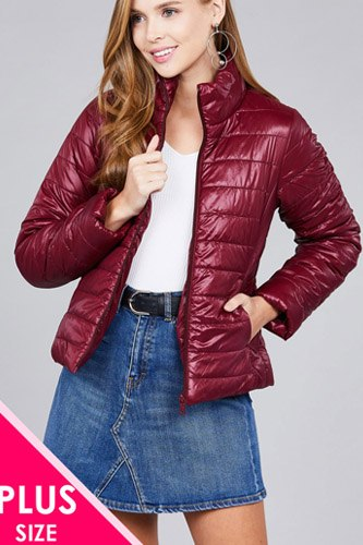 Ladies fashion plus size long sleeve quilted padding jacket-id.cc36994
