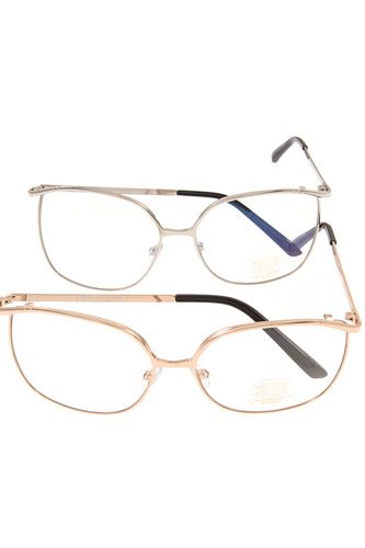 Metal framed clear lens glasses-id.cc37013