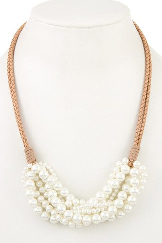 Cluster pearl bib necklace-id.cc37022