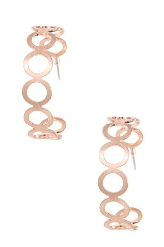 Circle cut out semi hoop earring-id.cc37028
