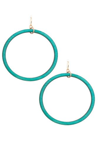 Wooded hoop earring-id.cc37031