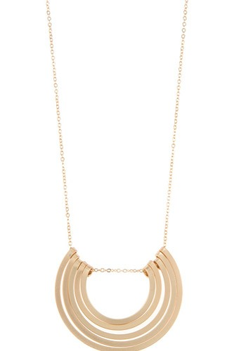 Semi circle multi pendant necklace set-id.cc37046