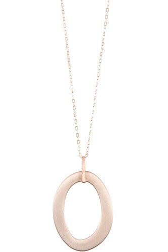 Oval cut out pendant long necklace-id.cc37047