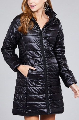 Long sleeve quilted long padding jacket-id.cc37062a