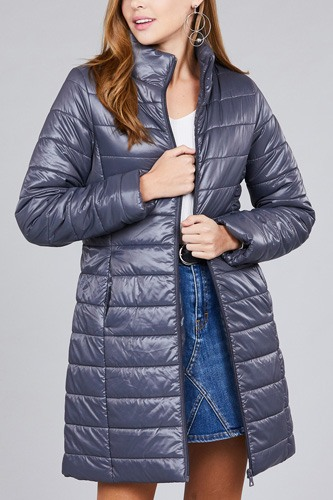 Long sleeve quilted long padding jacket-id.cc37062c