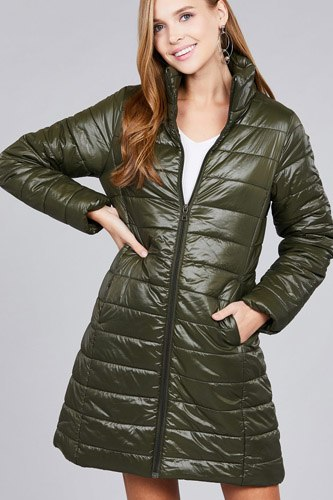 Long sleeve quilted long padding jacket-id.cc37062e