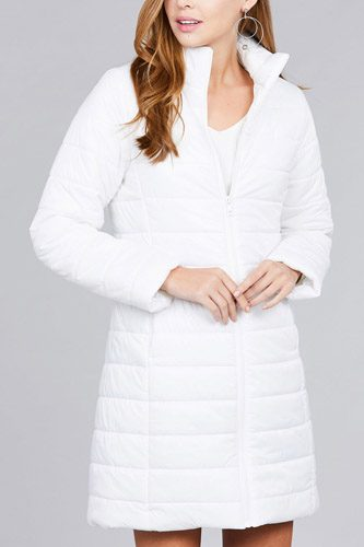 Long sleeve quilted long padding jacket-id.cc37062f