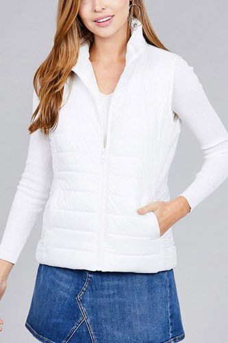 Quilted padding vest-id.cc37063h