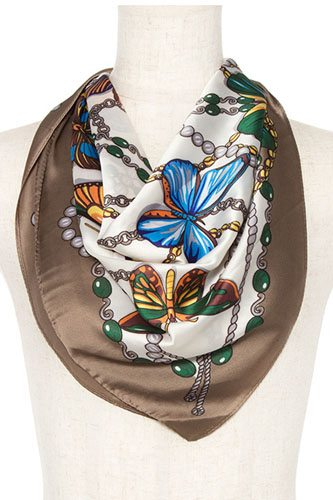 Butterfly mix silk scarf-id.cc37077
