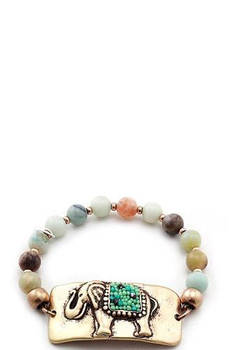 Fashion beaded elephant bracelet-id.cc37099