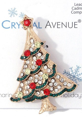 Christmas tree brooch-id.cc37115