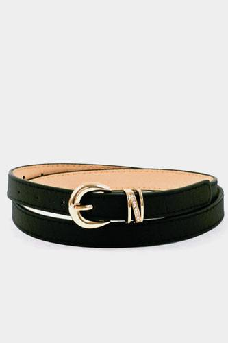 Buckle accent stitch belt-id.cc37147