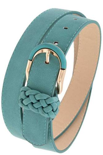 Braid accent buckle leather belt-id.cc37148