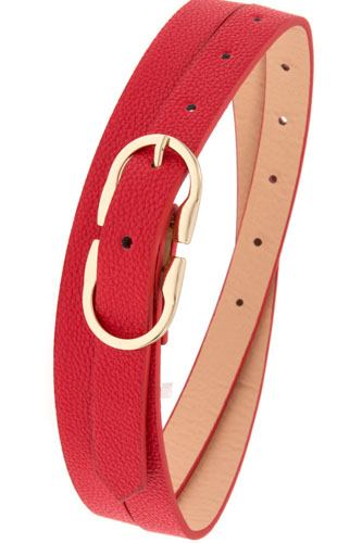 Thin faux leather belt-id.cc37151