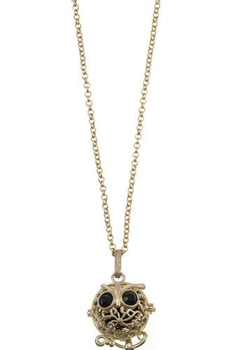Owl cut out pendant necklace-id.cc37162