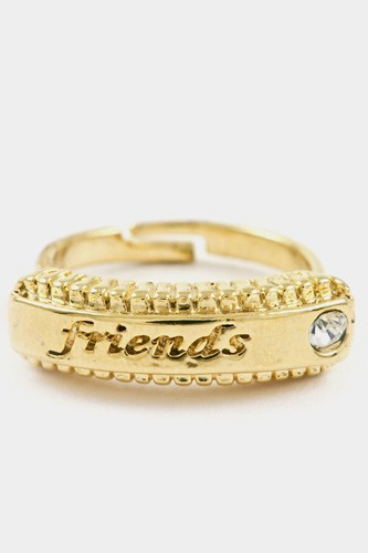 Friends bar with textured crystal accent adjustable ring-id.cc37188