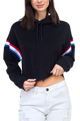 Crop hood shirts-id.cc37198