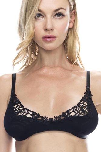 Embroidered lace overlayed shelf bralette-id.cc37219