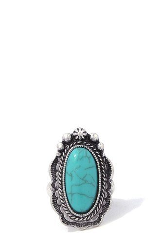Filigree turquoise stretch ring-id.cc37258