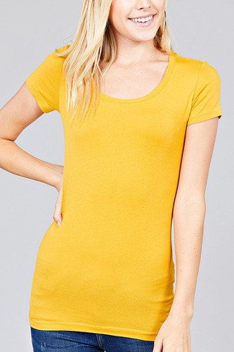 Basic short sleeve scoop-neck tee-id.cc37282d