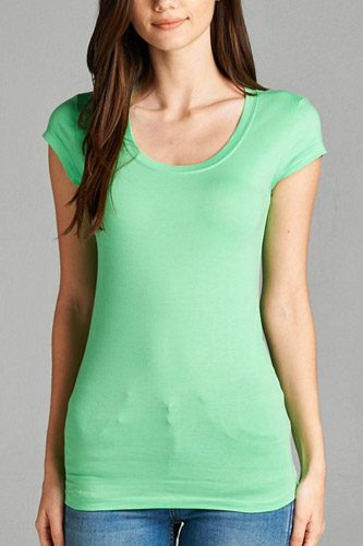 Basic short sleeve scoop-neck tee-id.cc37282hh