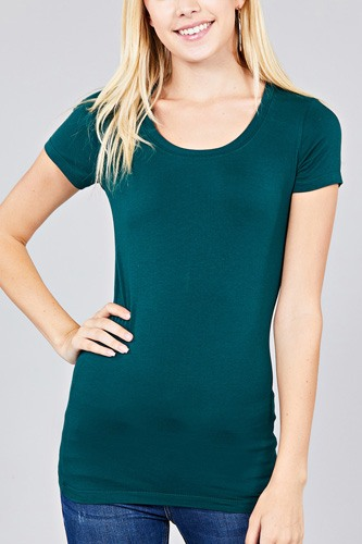 Basic short sleeve scoop-neck tee-id.cc37282o
