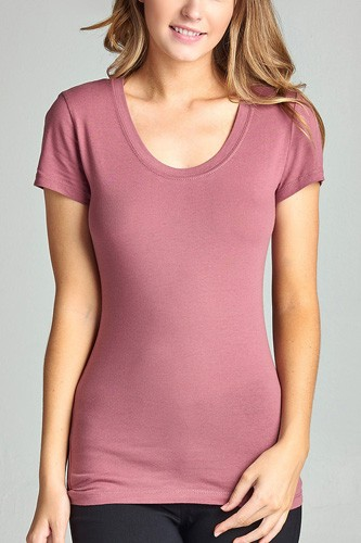 Basic short sleeve scoop-neck tee-id.cc37282q
