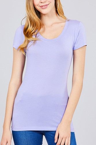 Basic short sleeve scoop-neck tee-id.cc37282r