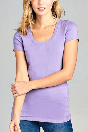 Basic short sleeve scoop-neck tee-id.cc37282x