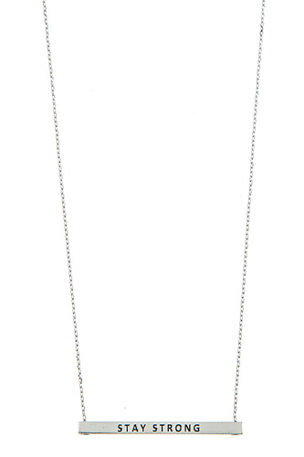 Stay strong bar necklace-id.cc37300