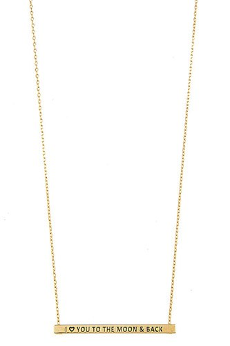 I love you to the moon and back bar necklace-id.cc37304