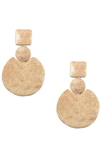 Punched detailed disk drop earring-id.cc37308