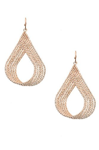 Multi teardrop link dangle earring-id.cc37311