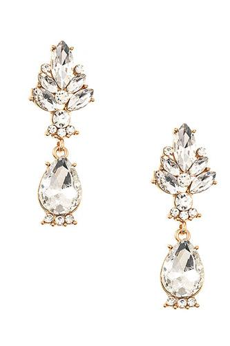 Crystal gem drop earring-id.cc37313