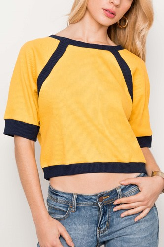 Dolmen sleeve ribbed cropped top-id.cc37344a