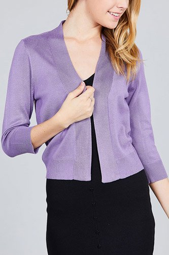 3/4 sleeve open front crop cardigan-id.cc37345c