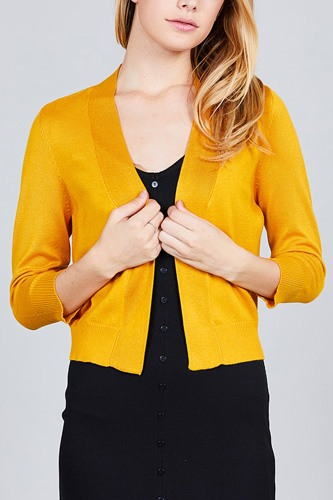 3/4 sleeve open front crop cardigan-id.cc37345d