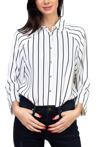 Stripe snap button down shirt-id.cc37350c