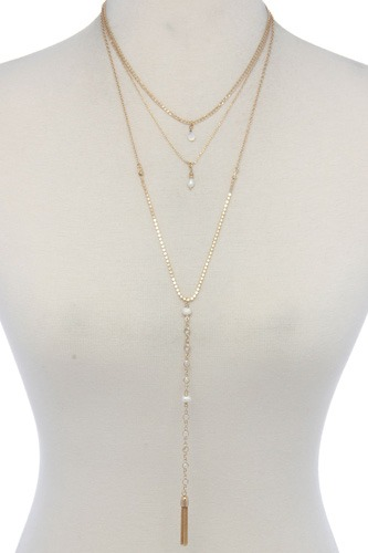 Metal layered necklace-id.cc37372