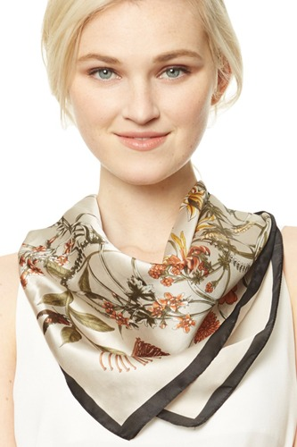 Abstract floral print square scarf-id.cc37433