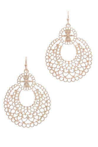 Metal drop earring-id.cc37455