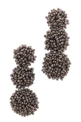 Chunky beaded post drop earring-id.cc37459