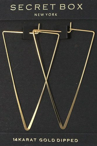 Triangular shape hoop earring-id.cc37463