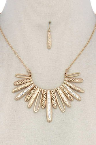 Long oval shape metal necklace-id.cc37508