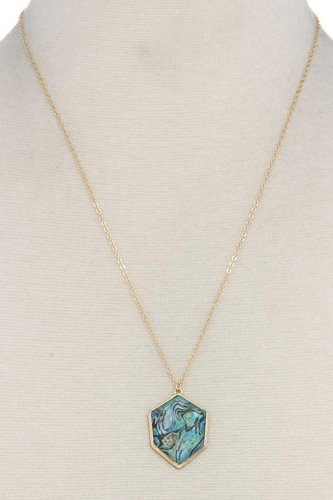 Organic shape pendant necklace-id.cc37512