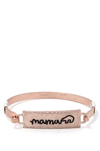 Mama bear metal bar bracelet-id.cc37520