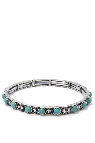 Circle bead metal stretch bracelet-id.cc37524