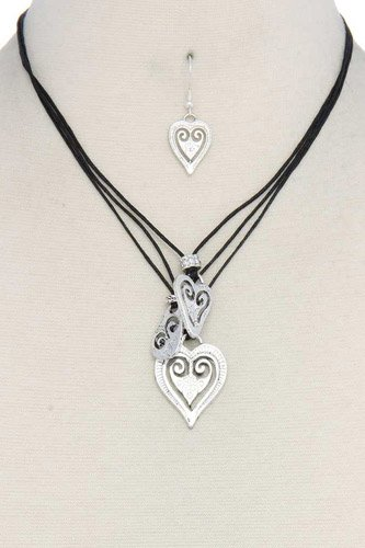Heart shape pendant necklace-id.cc37543